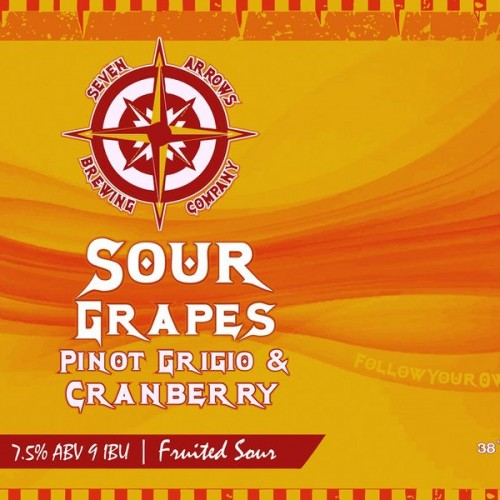 Beer Release! Sour Grapes Pinot Grigio & Cranberry!