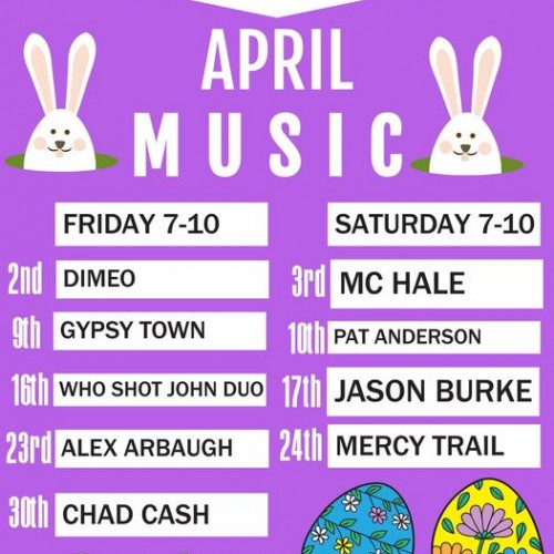 Live Music in April at E&J's Deli Pub