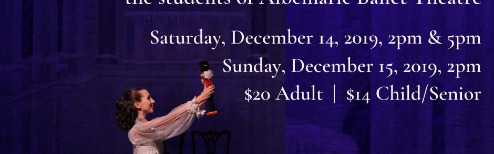 Studio for the Performing Arts and Albemarle Ballet Theatre present The Nutcracker